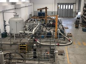 Inside the new Finder test facility in Merate, Italy.