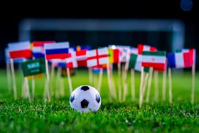 The national flags of the 2018 Fifa World Cup. Image courtesy of kovop58/Shutterstock.com.