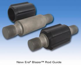 The New Era Blazer rod guide sleeve rests on the tubing wall as the steel rotor and rod string rotates.