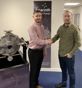 Amarinth signing agency agreement with Berik Taganov, Technical Director ISG.
