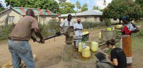 Groundwater is used by around 200 million rural Africans every day. (Image: OxWater.)