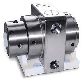 Both pumps feature diaphragms and valve bodies made of solid PTFE without inner elastomer or metal parts that increase the risk of contamination.
