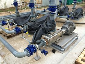 Pre-assembled ready-to-install VPS plug-and-pump skid for a loading and unloading station for diesel products.