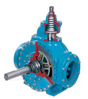 Both the XL and HXL Series pumps feature ductile-iron construction with a bolt-on internal relief  valve that protects against excessive pumping pressures.
