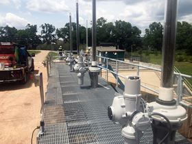 The electric IQ actuators with IB gearboxes are used on top of sluice gates, ready to close them during periods of excessive rainfall and flooding.