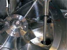Figure 3. When milling closed impellers, the milling machine works along the channel from it intake/outlet opening inwards.