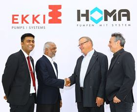 EKKI Pumps and Homa shake hands on the joint venture.