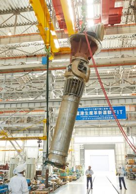 The pump that Ebara shipped to Nevada at the company's Futtsu Plant in Japan.