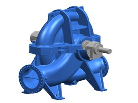 A computer simulation of the newly developed RDLP pump from KSB which will be employed in the Setif Est project in Algeria