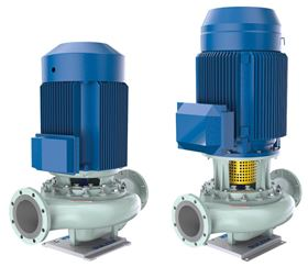 The monoblock design SIL pumps are available with integrated or IEC motors.