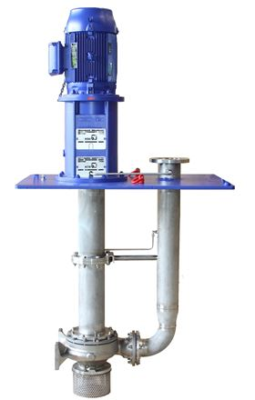 The new vertical suspended pumps of the Estigia type series for installation in tanks under atmospheric pressure. © KSB SE & Co. KGaA, Frankenthal
