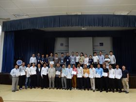 Participants of the recent Ebara pump technology seminar at the Institute of Technology of Cambodia in Phnom Penh