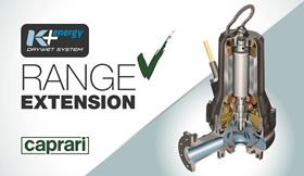 Launched on the market in 2018, Caprari's K+ Energy pumps features the Dry Wet cooling system that allows the customer to use a single electric pump model both for submerged applications and in dry chambers.