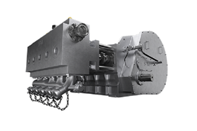 The SPM EXL Frac pump has a frame constructed with an integrated skid designed to reduce vibrations across the frame.