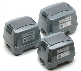 Enviro linear air pumps, designed for wastewater treatment units.