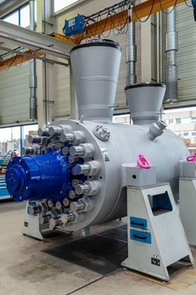 The KSB CHTD 11/5 boiler feed pump will be used in the new coal-fired power plant currently being built in Huaibei, China. (Image: KSB)