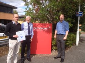 John Bower, BPMA (centre), John Florence, engineering manager (left), Chris Lang, product manager (right).