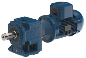 WEG's explosion-proof geared motor with a Watt Drive helical gear unit coupled to a W22X motor.