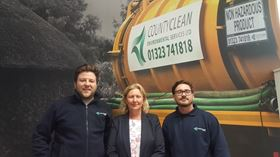 From left: Ben Knights, pumps division sales manager; Debbie Walker, company director; and Luke Blundell, pump engineer.