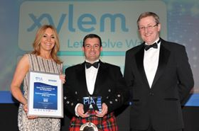 Xylem is presented with the award.
