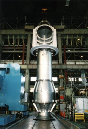Figure 1. Ebara's VYB (shown here) and VYM vertical mixed flow pumps have been developed to meet the challenges of seawater desalination pumping.