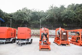 Godwin pumps at  Xylem's new pump rental and services hub in the Philippines.