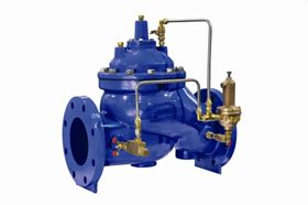 The new valves from Singer Valve include the 6 in and 8 in S106 full port rolling diaphragm operated control valves and 20 in S106 full port and 24 in S206 reduced port diaphragm operated control valves.
