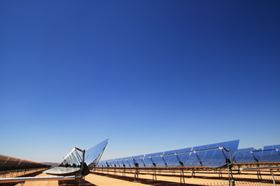 CSP generates electric power by using mirrors to focus and concentrate the sun's rays on a receiver from which a heat transfer fluid carries the intense thermal energy to a power block to generate electricity