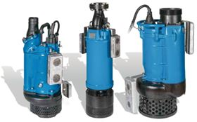 Submersible pumps for grey water: Retrofitted anode blocks prevent the pump body from corroding quickly.