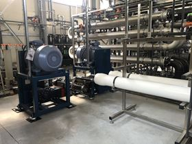 A Wanner Hydra-Cell® pump in a reverse osmosis application.