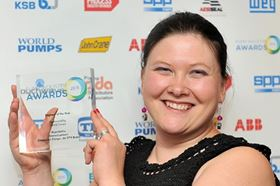 Winner of Pump Engineer of the Year 2015 at the Pump Industry Awards: Emma Lambert, ClydeUnion Pumps (an SPX Brand).
