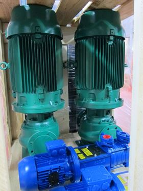 The pumps were used in the ship's hot water boosting and air conditioning cooling system.