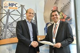 Jose Larios (right), SPX Flow's president, Industrial and Energy, and Humphrey Cadoux-Hudson (left), EDF Energy's MD of Nuclear New Build at the recent signing ceremony in London.