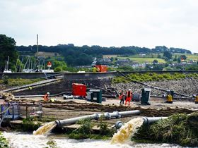 The emergency plan required water levels in the reservoir to be reduced at a rate of 1.1 m3per second