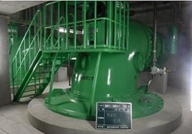 The pumproom at Hakozaki Pump Station.