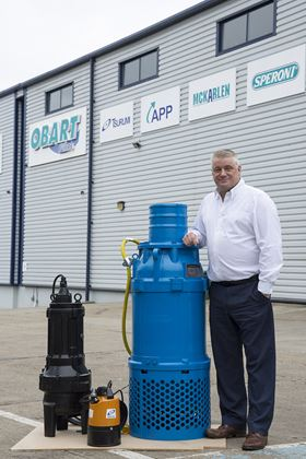 Daniel Fraser, the new sales director at Obart Pumps.
