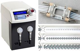Dolomite's Micro Droplet System operates over a wide flow range, from 0.1µl/min to 10 ml/min.