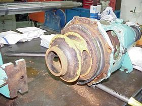 Figure 1: The as found condition of a pump impeller at the Oconee Niclear Station.