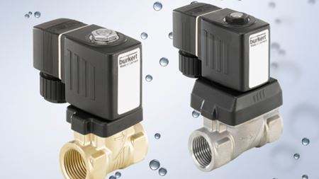 Bürkert solenoid valves for fluids and gases