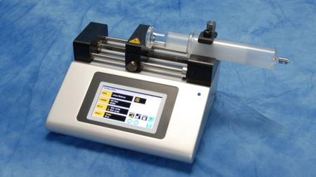 Legato 100 syringe pump has touch screen interface