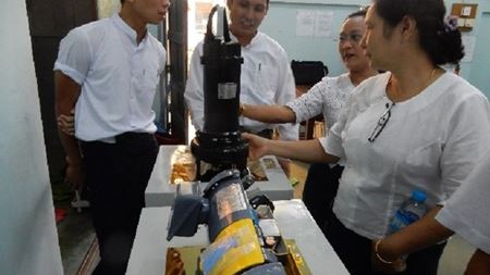 Ebara donates pumps to university in Myanmar