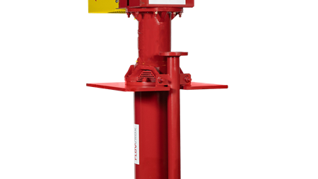 Flowrox pump with vertical cantilever design