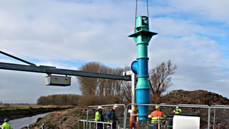 Bedford Pumps installs direct drive fish friendly pump variant