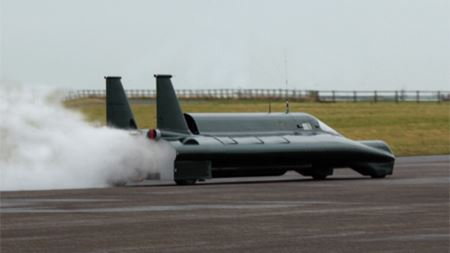 Cat Pumps fuel the new land speed record for a steam powered car