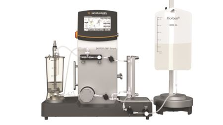 New benchtop crossflow filtration system with optimized membrane pump