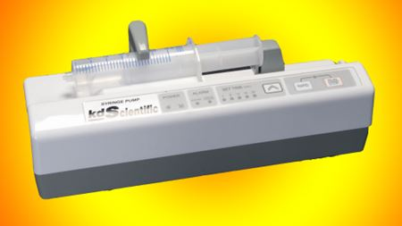 KDS EXFlow 2020 syringe pump for high rate infusions