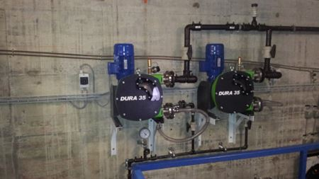 Verderflex pumps in water softening solution