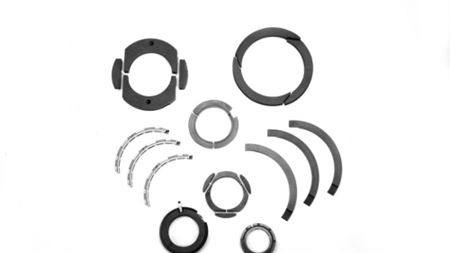 Metallized Carbon Corporation custom radial seal rings