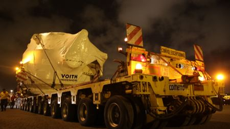 Delivery of a 170 tonne valve from China to Portugal