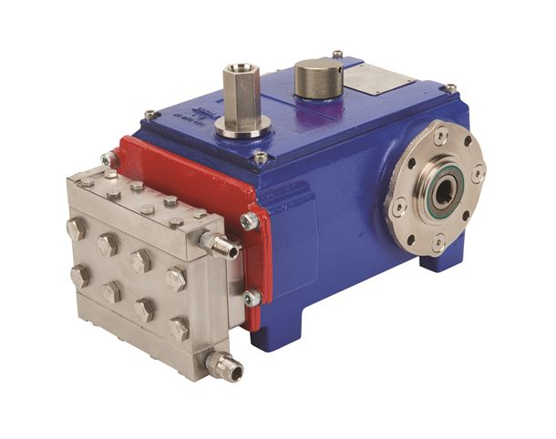 The Hydra-Cell MP8 pump covers a wide range of flows from 0.227 to 30.28 litres per hour at pressures up to 241 bar.